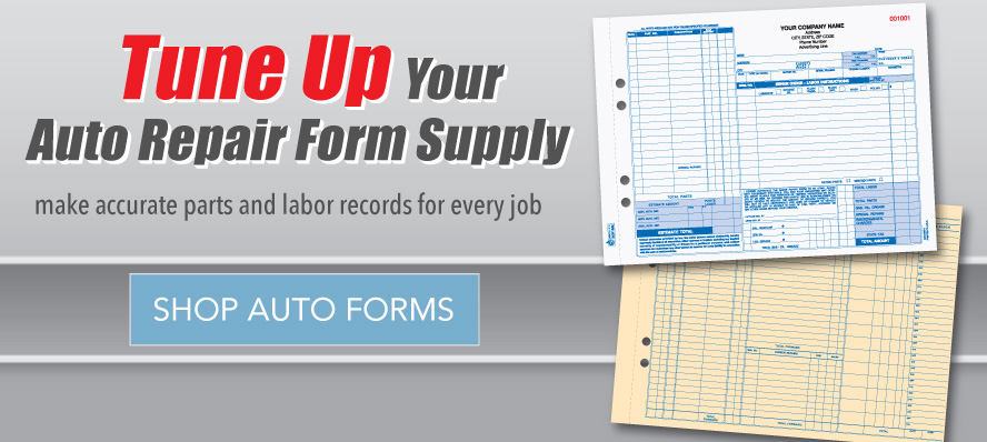 Tune up with Auto Repair Forms