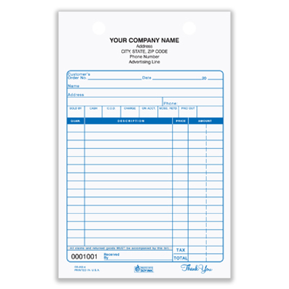 custom printed forms