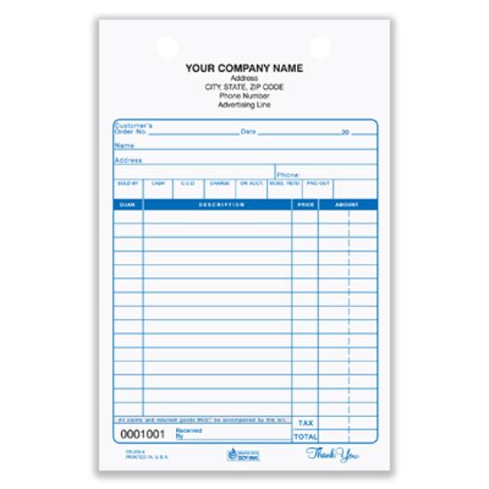 custom printed forms
