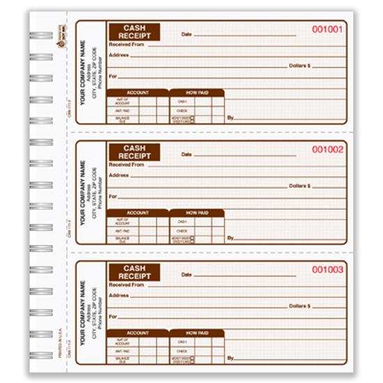 personalized receipt books