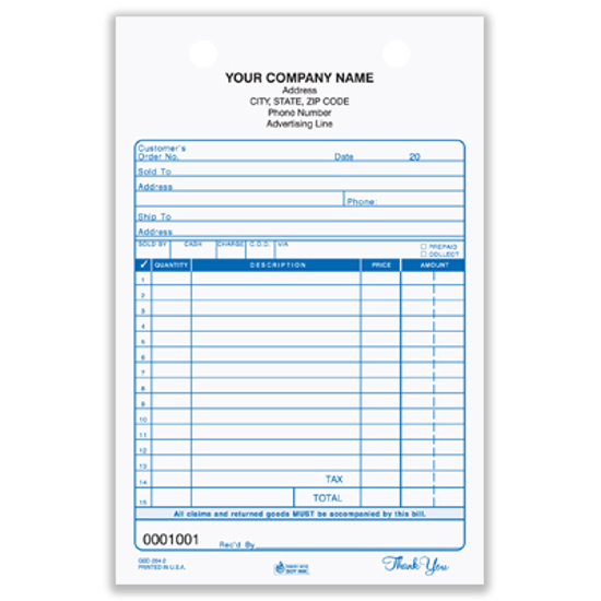sales slips forms