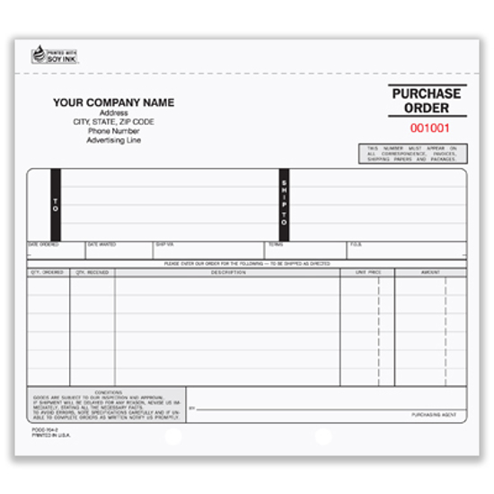 purchase order books 2 part