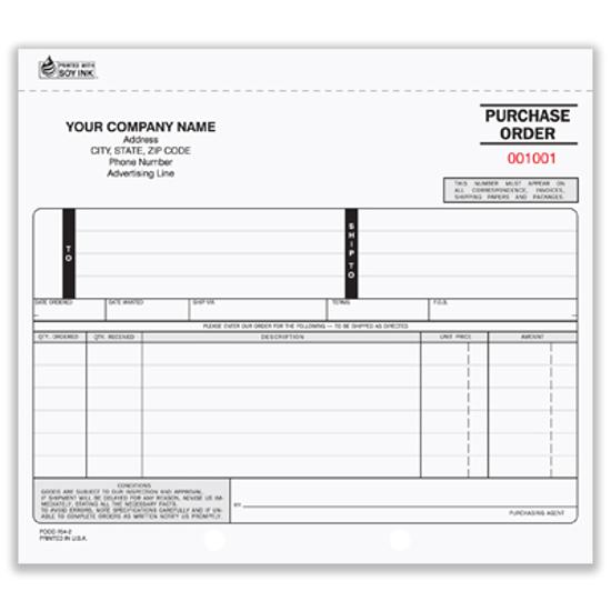 custom purchase order books