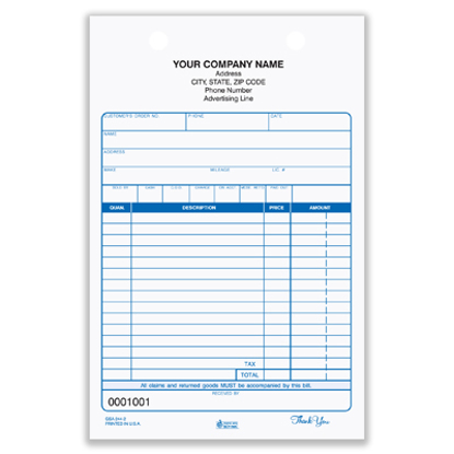 custom auto repair invoices