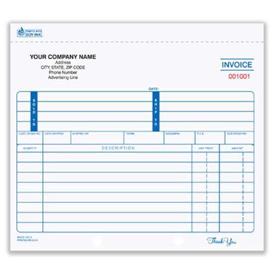 customized invoices