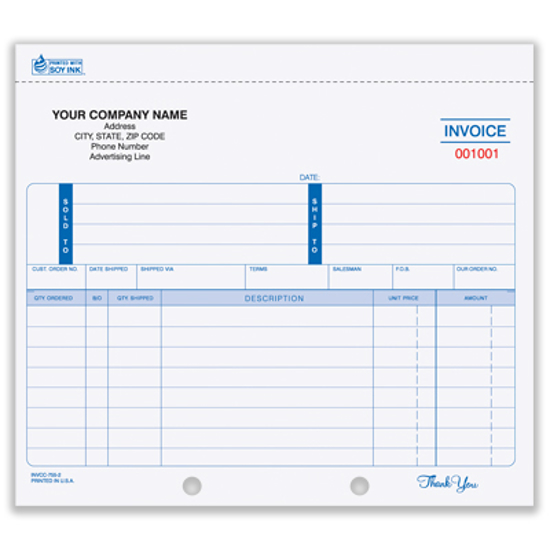 printed invoices