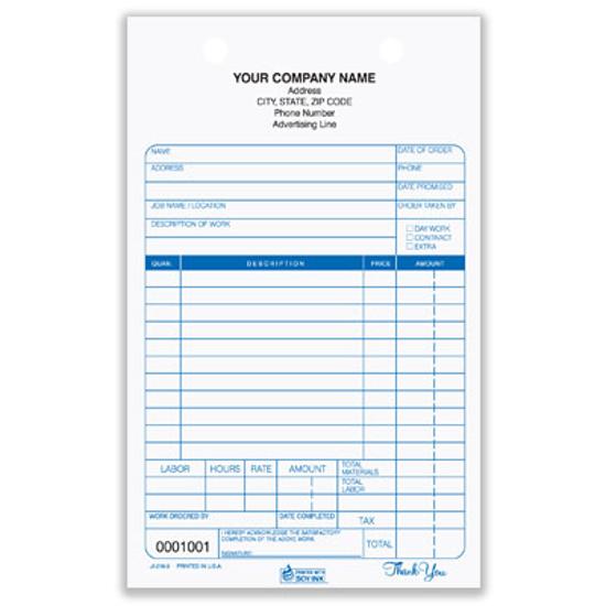 Picture of Job Invoice Register Form - 3 Part Carbonless (JI-216-3)