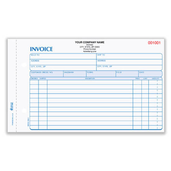 Picture of Invoice Form - 4 Part Carbonless (INVCC-760-4)