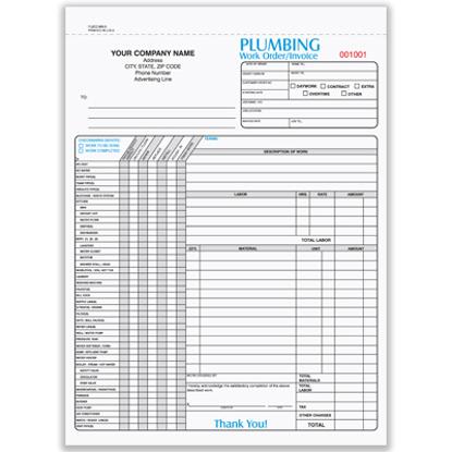 Picture of Plumbing Form - 3 Part Carbonless (PLBCC-665-3)