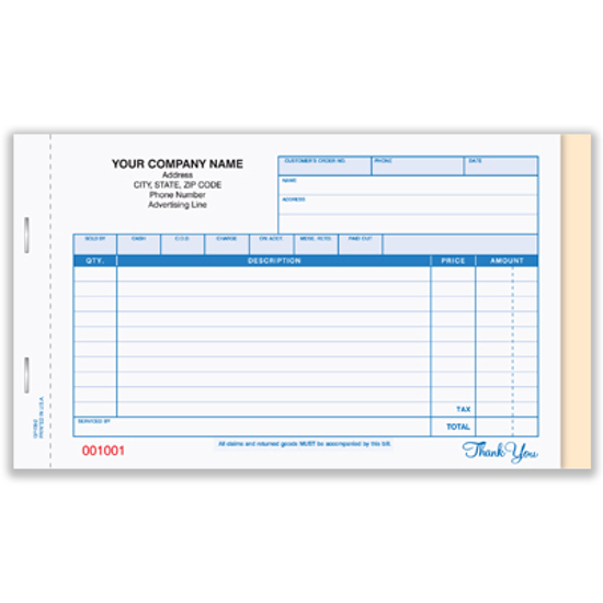 Picture of General Sales Book - 3 Part Carbonless (GP-139-3)