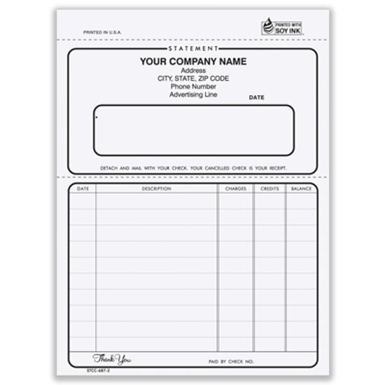 Picture of Ruled Statement Form - 2 Part Carbonless (STCC-687-2)