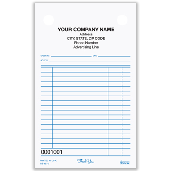 Picture of General Sales Register Form - 3 Part Carbonless (GS-237-3)