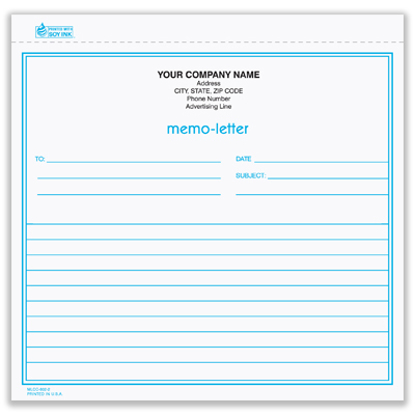 Picture of Memo Letter - 2 Part Carbonless (MLCC-802-2)