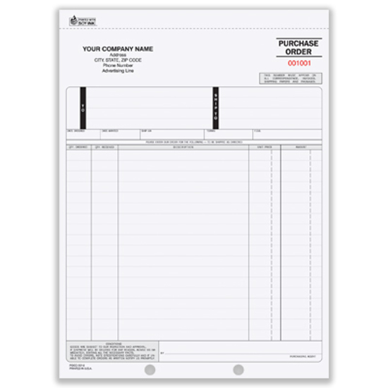 Picture of Purchase Order Form - 3 Part Carbon (PO-700-3)