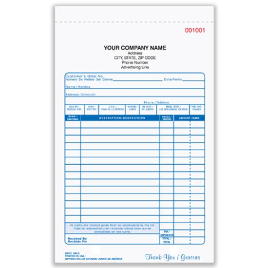 Picture of General Sales Form - 2 Part Carbonless (GSCC-552-2)