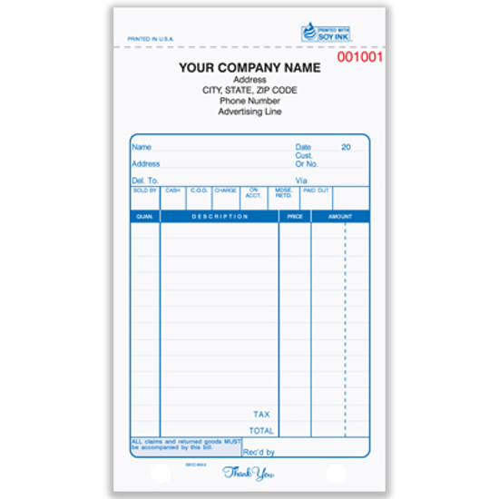 Picture of General Sales Form - 2 Part Carbon (GS-654-2)