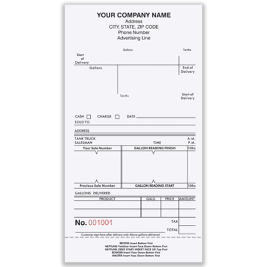 Picture of Fuel Meter Ticket Form - FMT-897-3