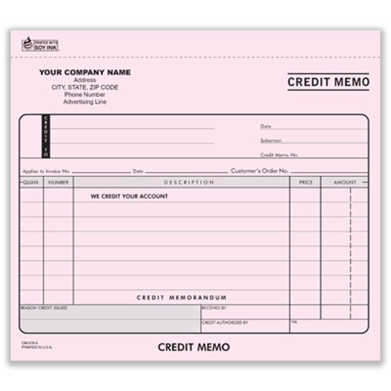 credit memo form