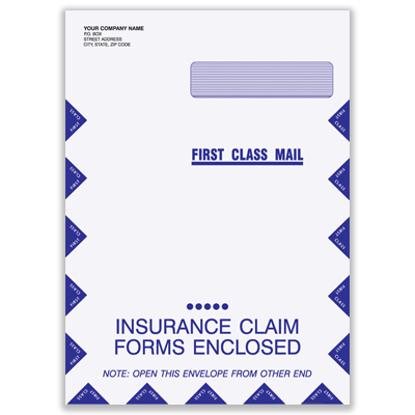 Picture of Large Claim Form Envelope - Imprinted (ENV-9961-IMP)