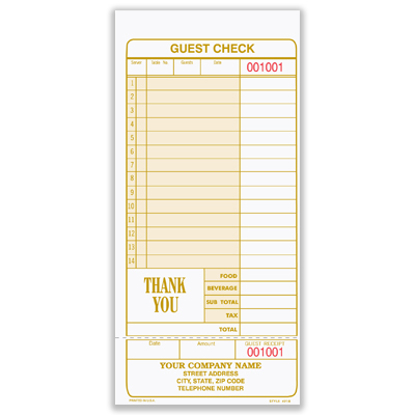 Picture of Guest Check (4918)