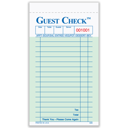 Picture of Guest Check (4246)