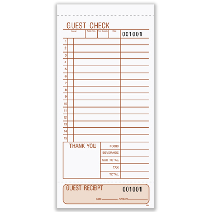 Picture of Guest Check - Snap-a-Part (202)