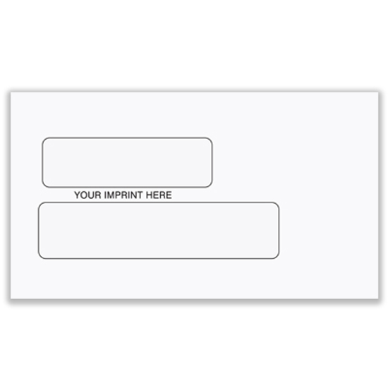 Picture of #6 3/4 Envelope - Double Window (ENV-9915)