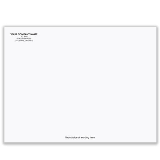 Picture of White Envelope - 9 1/2 x 12 1/2 - 42# - Imprinted (ENV-9833)