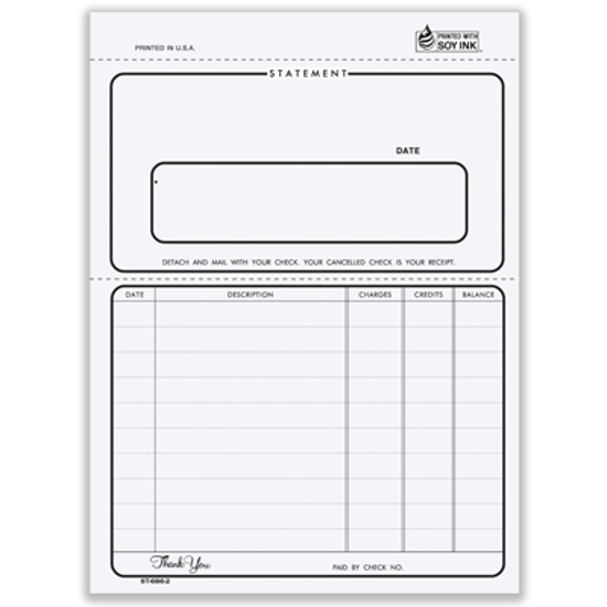 Picture of Ruled Statement Form - 2 Part Carbon (ST-686-2)