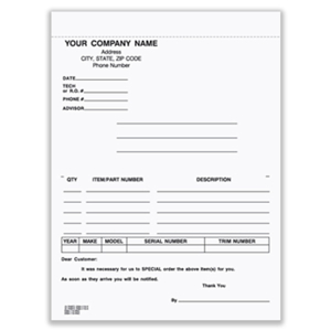 Picture for category Special Parts Order Forms