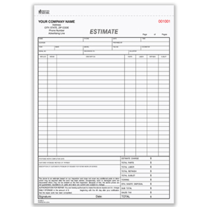 Picture for category Estimate and Sales Forms