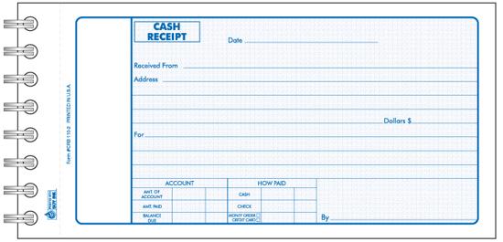 Picture of Cash Receipt Book - 3 Part Carbonless (CRB-110-3)