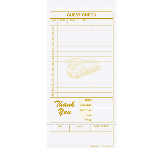 Picture of Guest Check (4902)