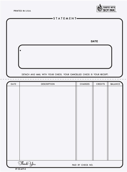 Picture of Unruled Statement - 2 Part Carbonless (STCC-677-2)